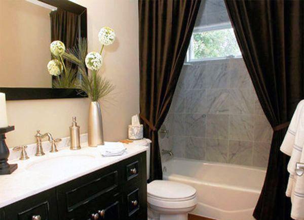 131Дизайн ванной комнаты со шторами